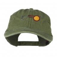 Fishing Walleye Lure Embroidered Washed Cap - Olive Green