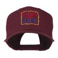 God Bless the USA Embroidered Cap - Maroon