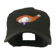 Golf Club and Ball Embroidered Cap - Black