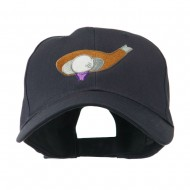 Golf Club and Ball Embroidered Cap - Navy