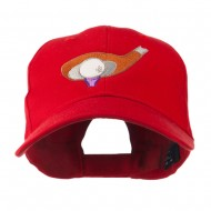 Golf Club and Ball Embroidered Cap - Red