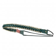 Gold Chain Elastic Headband - Green