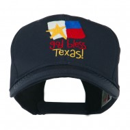 God Bless Texas Embroidered Cap - Navy