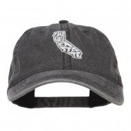 California Golden State Embroidered Cap - Black