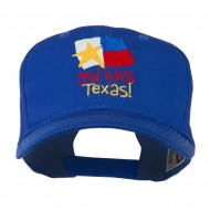 God Bless Texas Embroidered Cap - Royal