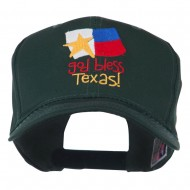God Bless Texas Embroidered Cap - Green