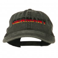 Germany Embroidered Washed Pigment Dyed Cap - Black