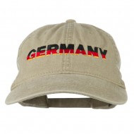 Germany Embroidered Washed Pigment Dyed Cap - Khaki