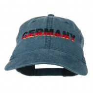 Germany Embroidered Washed Pigment Dyed Cap - Navy