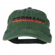 Germany Embroidered Washed Pigment Dyed Cap - Green