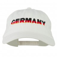 Germany Embroidered Washed Pigment Dyed Cap - White