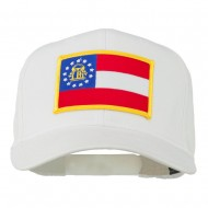 Eastern State Georgia Embroidered Patch Cap - White