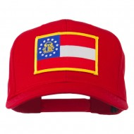 Eastern State Georgia Embroidered Patch Cap - Red