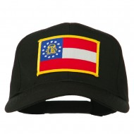 Eastern State Georgia Embroidered Patch Cap - Black