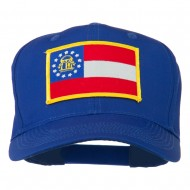 Eastern State Georgia Embroidered Patch Cap - Royal