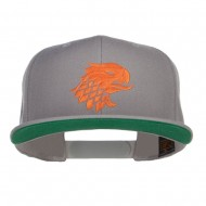 Griffin Head Embroidered Snapback Cap - Silver
