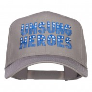 Unsung Heroes Embroidered High Profile Cap - Grey