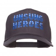 Unsung Heroes Embroidered High Profile Cap - Charcoal Grey