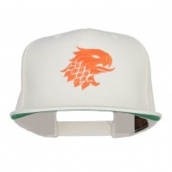 Griffin Head Embroidered Snapback Cap - Natural