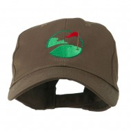 Golf Flag on the Green Embroidered Cap - Brown