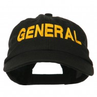 US GENERAL Embroidered Low Profile Washed Cap - Black