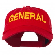 US GENERAL Embroidered Low Profile Washed Cap - Red