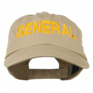 US GENERAL Embroidered Low Profile Washed Cap - Khaki