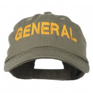 US GENERAL Embroidered Low Profile Washed Cap - Olive
