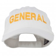 US GENERAL Embroidered Low Profile Washed Cap - White