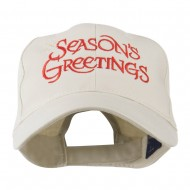 Season's Greetings with Snowflake Embroidered Cap - Stone