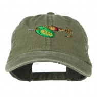 Fishing Green Spinner Embroidered Washed Cap - Olive Green