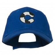 Holstein Alphabet AM Letters Embroidered Youth Brushed Cap - C