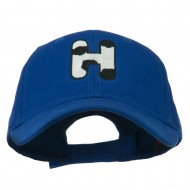 Holstein Alphabet AM Letters Embroidered Youth Brushed Cap - H