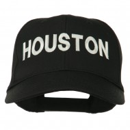 Houston Embroidered Cotton Twill Snapback Cap - Black