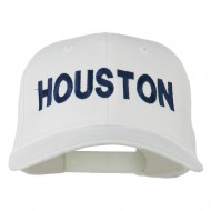 Houston Embroidered Cotton Twill Snapback Cap - White