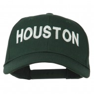 Houston Embroidered Cotton Twill Snapback Cap - Dk. Green