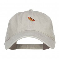 Mini Hot Dog Embroidered Washed Cap - Stone