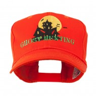 Halloween Ghost Hunting with House Embroidered Cap - Orange