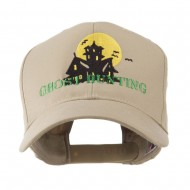 Halloween Ghost Hunting with House Embroidered Cap - Khaki