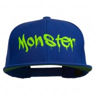 Halloween Monster Embroidered Snapback Cap - Royal