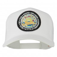 New Hampshire State Patched Mesh Cap - White