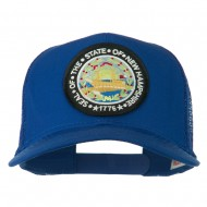 New Hampshire State Patched Mesh Cap - Royal
