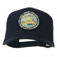 New Hampshire State Patched Mesh Cap - Navy