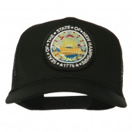 New Hampshire State Patched Mesh Cap - Black