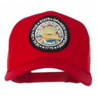 New Hampshire State Patched Mesh Cap - Red