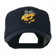 Flying Hornet Mascot Embroidered Cap - Navy