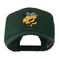 Flying Hornet Mascot Embroidered Cap - Green