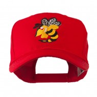 Flying Hornet Mascot Embroidered Cap - Red