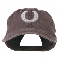 Western Horseshoe Embroidered Washed Cap - Brown