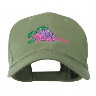 USA State Flower New Hampshire Lilac Embroidered Cap - Olive